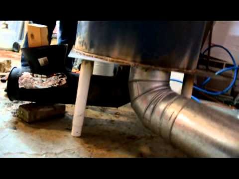 Making a Rocket Stove Thermal Mass Heater - part 3
