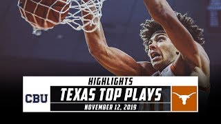 Texas Basketball Top Plays vs. California Baptist (2019-20) | Stadium