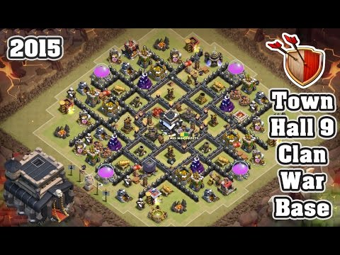 Epic th9 clan war base 2015 clash of clans