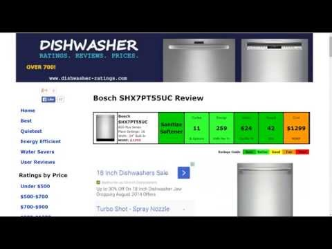 Bosch SHX7PT55UC Dishwasher Review