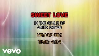 download lagu Anita Baker - Sweet Love Karaoke gratis