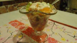 Фруктовый десерт. Готовим фруктовый десерт к новогоднему столу