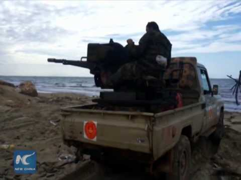 Raw: 10 soldiers killed in clashes in Libya