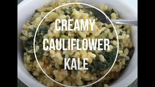 Elimination Diet Recipe - Creamy Cauliflower Kale