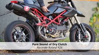 Termignoni Exhaust on Ducati Hypermotard 1100s . High Quality Sound Record. HQSR.