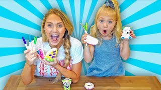Make Your Own Squishy Toy 3 Marker Challenge!!!