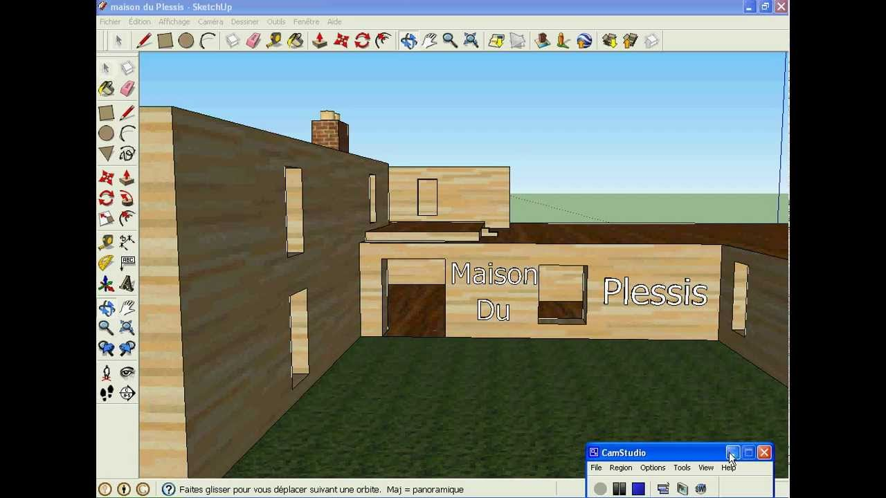 Sketchup 8 maison moderne youtube for Google sketchup maison