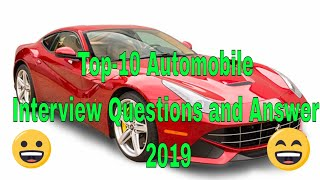 Top-10 Automobile Interview Questions and Answer 2019 {Part-1}!!