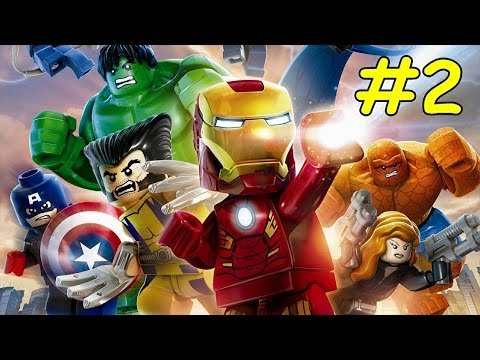 LEGO Marvel Superheroes Walkthrough Part 2 Time Square Off