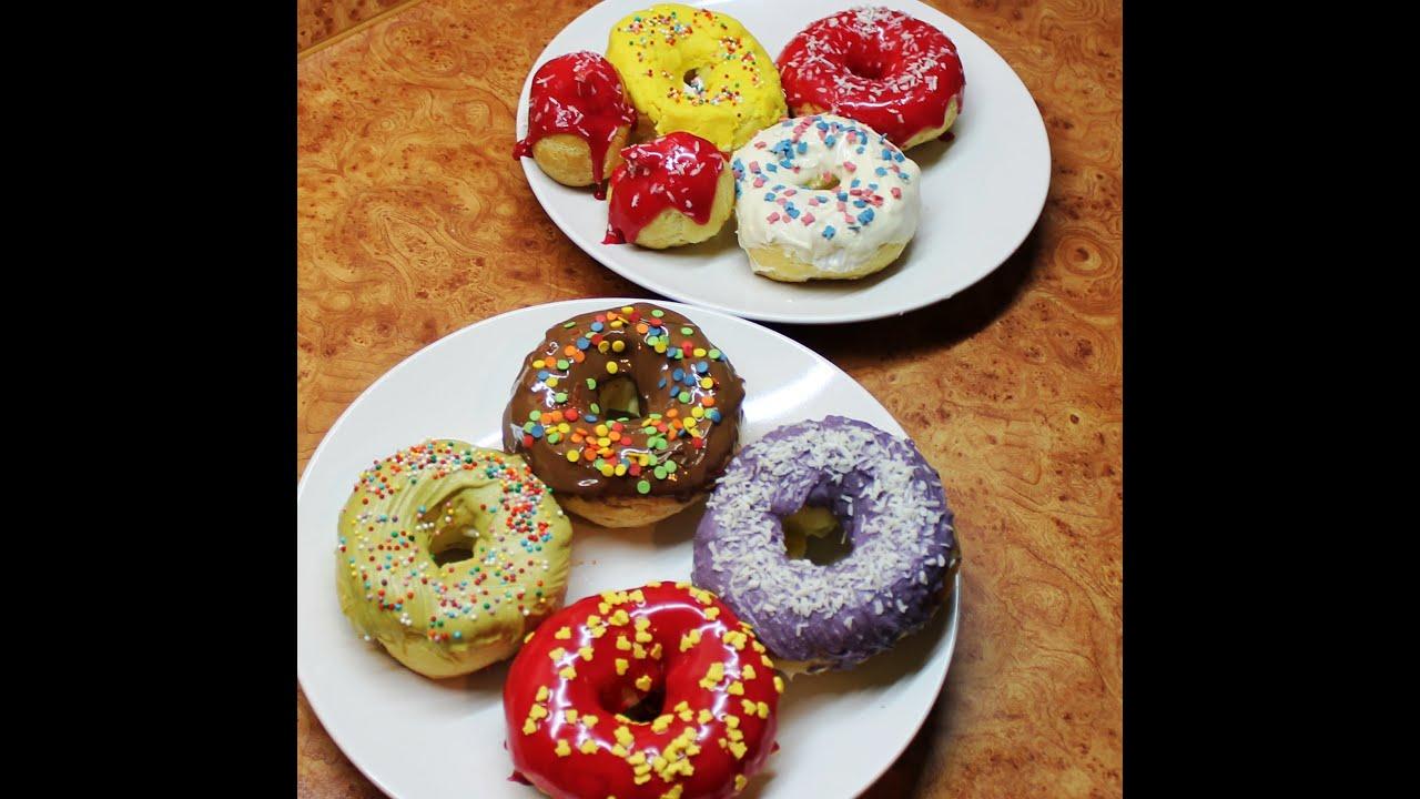 Пончики с глазурью рецепт пошагово пышные
