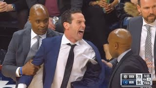 Nets Coach Kenny Atkinson Gets Ejected!