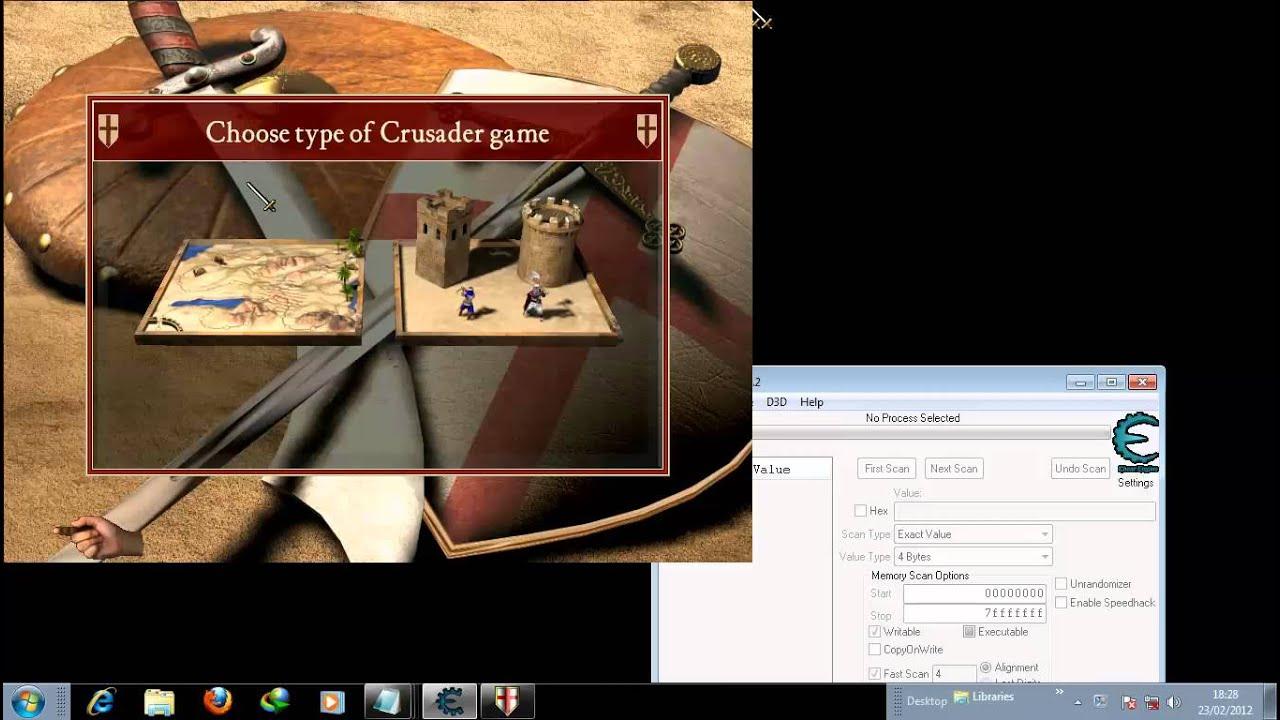 Cheat stronghold crusader mengunakan Cheat engine 6.2 - YouTube