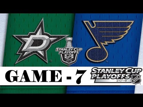 Dallas Stars Vs St. Louis Blues   Second Round   Game 7   Stanley Cup 2019   Обзор матча
