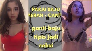 Pakai baju merah = cantik , ganti baju tipis jadi cantik + seksi ( bigo live vietnam)