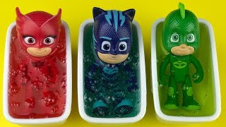 Pj Masks Toys and Toy Bathtubs, Learn Colors for Kids