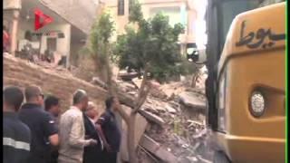 انهيار جزء من عقار قديم شرق مدينة أسيوط دون إصابات