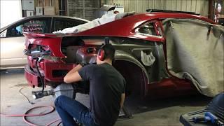 2014 Camaro Quarter Panel Replacement Pt.1
