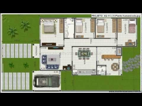 Plantas de casas de 4 quartos youtube - Plantas aromaticas en casa ...