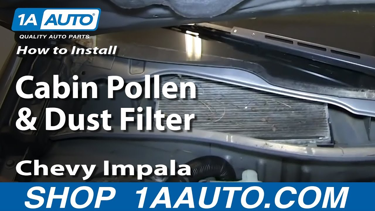 How To Install Replace Cabin Pollen And Dust Filter 2006 12 Chevy Impala Youtube