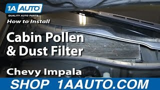 How To Install Replace Cabin Pollen and Dust Filter 2006-12 Chevy Impala