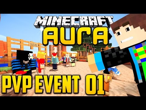 Minecraft AURA: PvP Event #1 - So viel ACTION OMG! :D l GommeHD Aura PvP Event#1