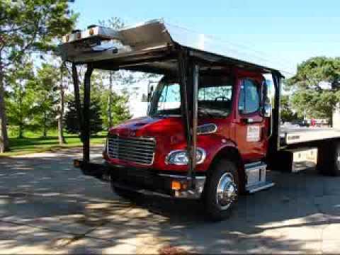 3 Car Carrier Sold 2008 Freightliner M2 Century 15