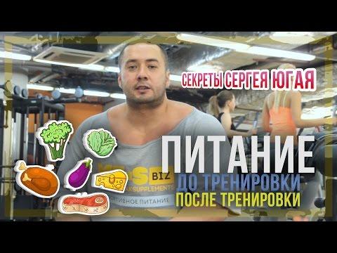Питание до и после тренировки: Секреты Сергея Югая