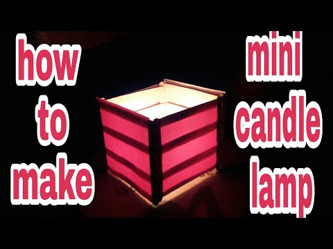 DIY how to make a mini candle lamp, ice cream sticks, life hacks, creative, tutorial, crafts