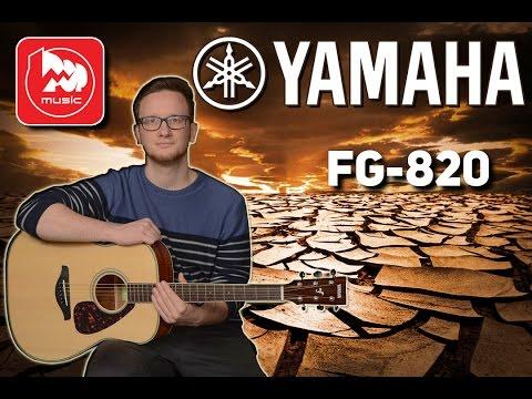 Обзор акустической гитары YAMAHA FG820