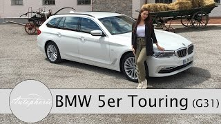 2017 BMW 5er Touring (G31): BMW 520d Touring Fahrbericht / Review (ENGLISH Subtitles) - Autophorie