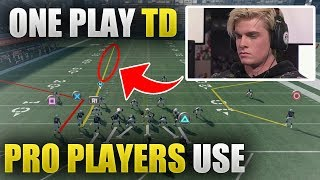 EASY ONE PLAY TD PRO PLAYERS USE | SECRET FOR COVER 3 BEATERS | Madden 18 Tips - 99 Yard Touchdown