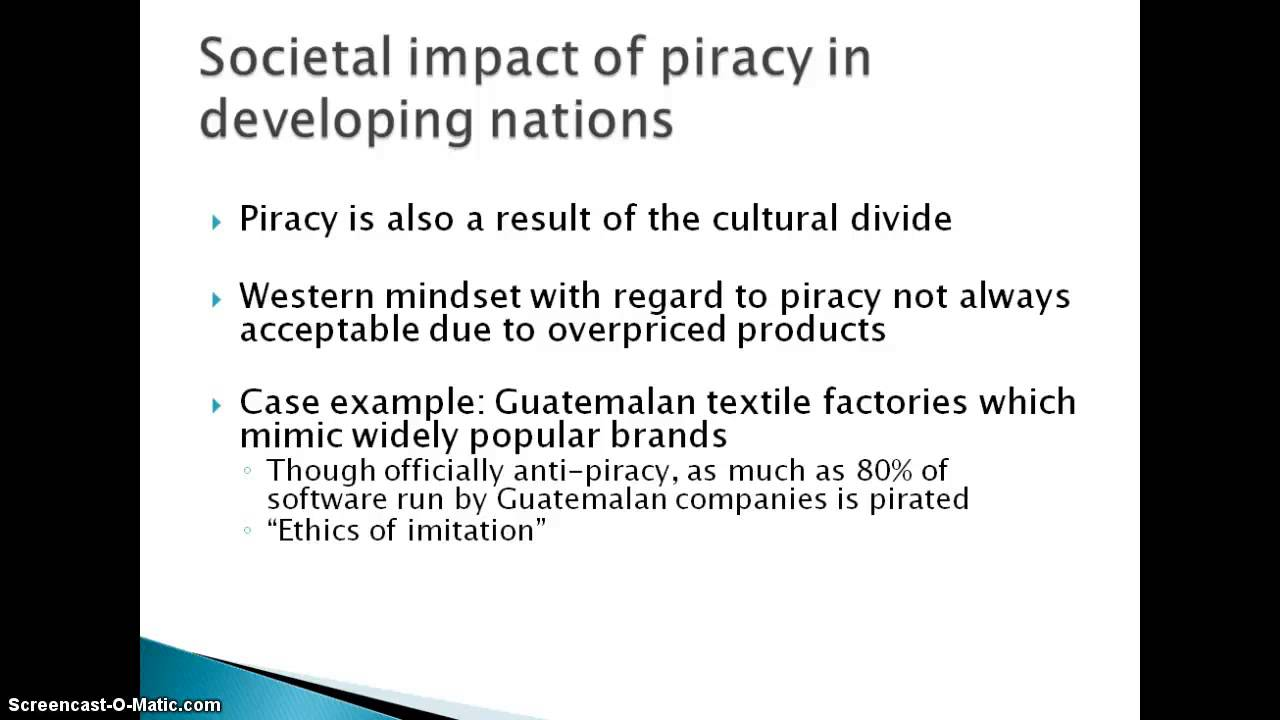 software piracy in the irish context Combatting software piracy: can felony penalties for copyright infringement curtail the copying of computer software greg shortt i introduction.