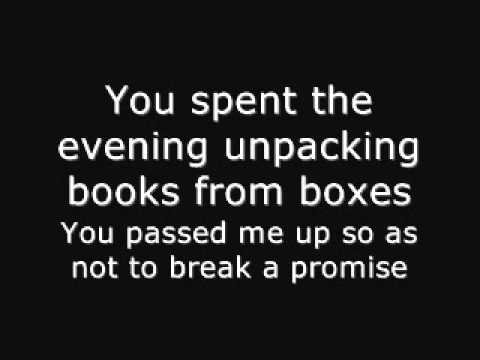 Books from Boxes - Maximo Park (Lyrics + Deutsche �bersetzung)