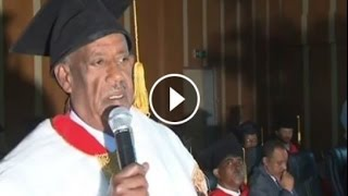 Axum University Awards Honorary Doctorate To   Ato Sebhat Nega