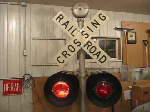 For Sale Railroad Crossing Working Assembly 120v Lights