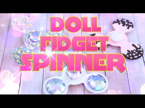 DIY - How to Make: FIDGET SPINNER really spins!!! Handmade Doll Crafts - 4K