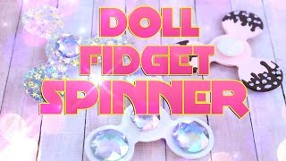 DIY - How to Make: FIDGET SPINNER really spins!!! Handmade Doll Crafts - 4K