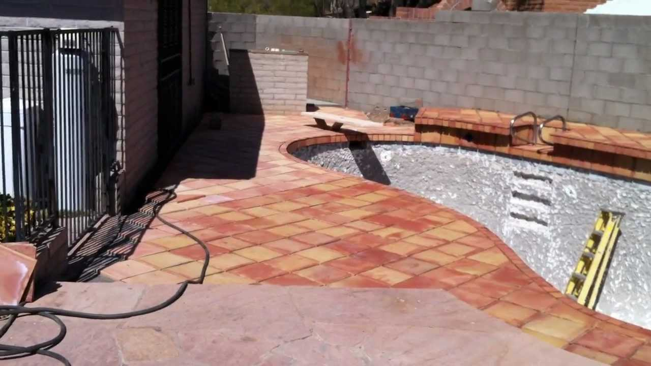 Pool Decking Saltillo Tile Upday Youtube