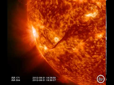Amazing Filament Eruption from Sept. 2012