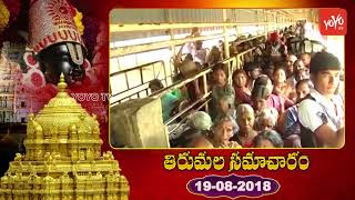 Tirumala Samacharam Today | Tirumala Tirupati Devasthanam Updates | 19th August 2018 | #TTD | YOYOTV