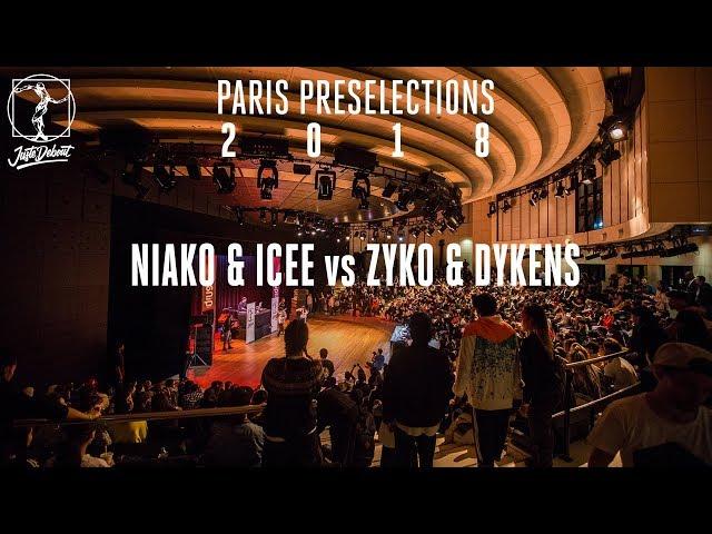 Paris preselections - Hip hop semi final : Niako & Icee vs Zyko & Dykenz