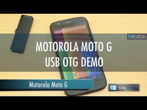 Motorola Moto G USB OTG Demo