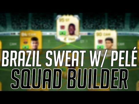 THE FULL  BRAZIL SWEAT SQUAD w/ LEGEND PELE & ROMARIO   FIFA 14 Ultimate Team Squad Builder (FUT 14)