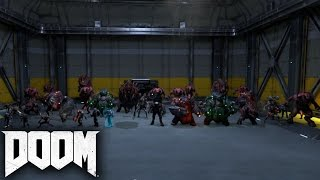 DOOM - All Demons and Enemies SHOWCASE (with Gameplay)