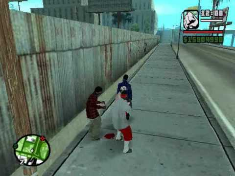 gta san andreas crips vs bloods vs latin kings part 2 Video