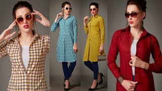 Long cotton jackets to wear with jeans || Indo western dresses/Kurtis for womens || Trendy India