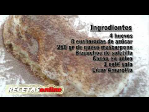 Tiramisú - Recetas de cocina RECETASonline