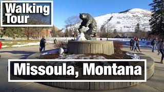 4K City Walks: Missoula Montana virtual treadmill walking tour