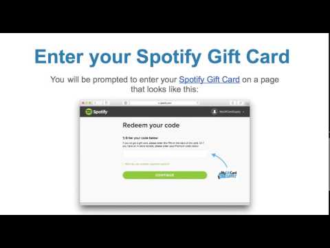 How to Redeem a Spotify Gift Card