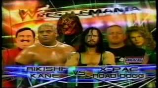 WWF Wrestlemania 2000 Matchcard